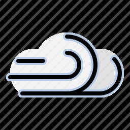 breeze, cloud, forecast, weather, wind icon