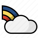 clouds, forecast, rainbow, weather icon