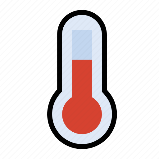 forecast, heat, thermometer, weather icon