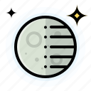 moon, quarter, third, weather icon