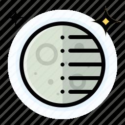 moon, quarter, third, weather icon