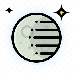 crescent, moon, waning, weather icon