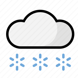 flurries, snow, weather icon