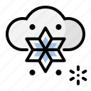 heavy, snow, weather icon