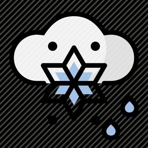 rain, snow, weather icon