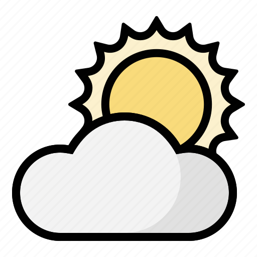 clouds, cloudy, partially, sun, weather icon