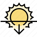 sunset, weather icon
