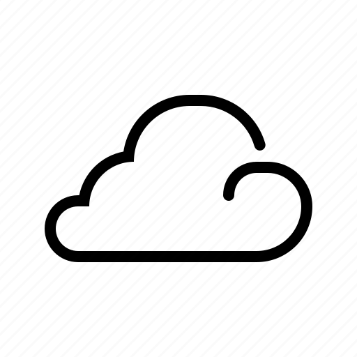 cloud, cloudlet, line, meteo, meteorology, weather icon