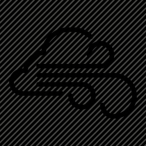 cloud, line, meteo, meteorology, weather, wind icon