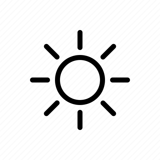 day, line, meteo, meteorology, sun, sunny, weather icon