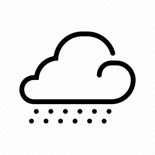 cloud, line, meteo, meteorology, snow, weather, winter icon