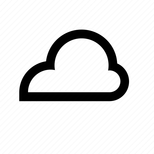 cloud, cloudy, meteorology, weather icon