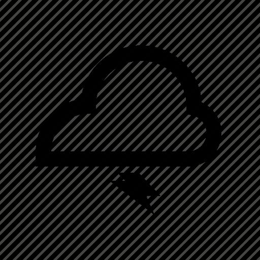 cloud, meteorology, thunderbolt, weather icon