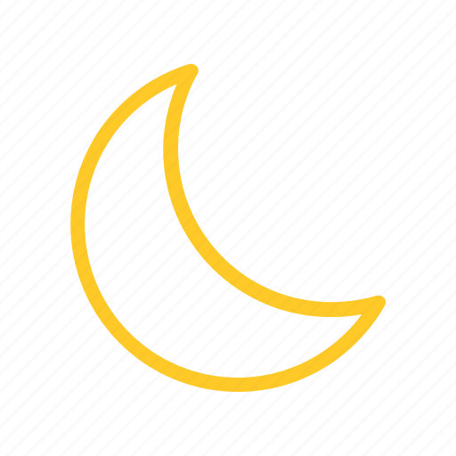 Color, fine, forecast, line, moon, night, weather icon - Download on Iconfinder
