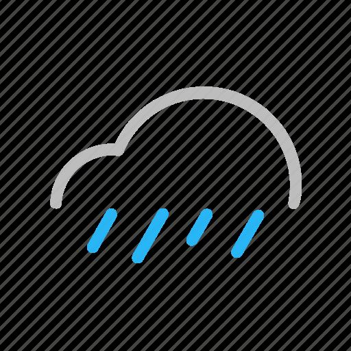 Cloud, color, forecast, line, rain, storm, weather icon - Download on Iconfinder