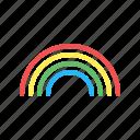 color, forecast, line, rainbow, raindrop, sun, weather