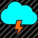 cloud, forecast, lightning, rain, thunder