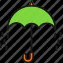 fall, rain, rainy, season, umbrella