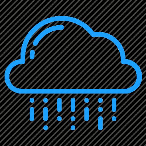 cloud, mix, rain, weather icon