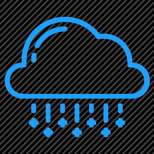 cloud, sleet, weather icon