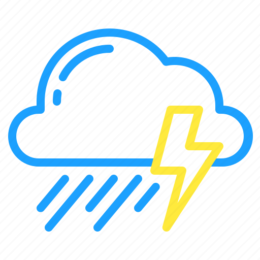 cloud, thunder, thunderstorm, weather icon