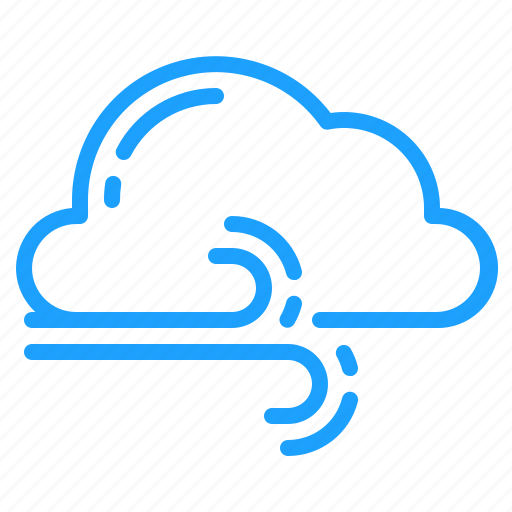 cloud, gusts, weather, windy icon