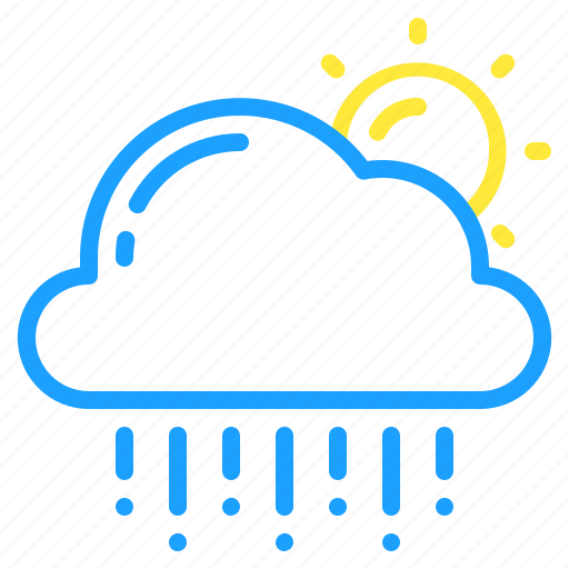 cloud, day, hail, sun, weather icon