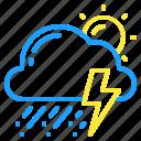 cloud, day, hail, storm, sun, thunder, weather