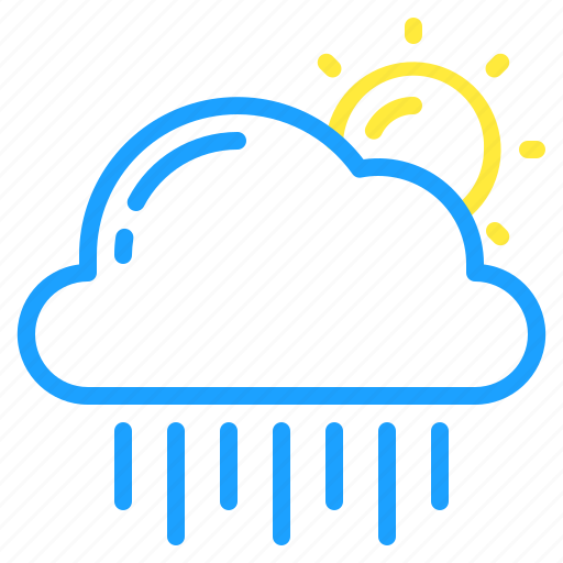 cloud, day, rain, sun, weather icon