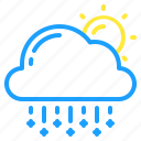 cloud, day, sleet, sun, weather icon