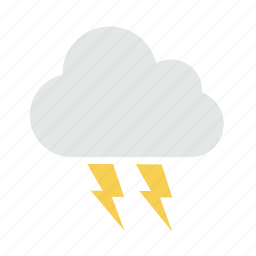 cloud, light, lightning, storm, weather icon