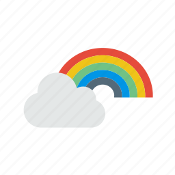 cloud, colorful, forecast, rainbow, weather icon