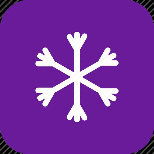 cold, flake, snow, snowfall, snowflake, weather icon