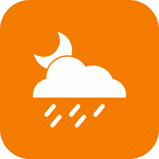 cloud, night, rain, raining icon