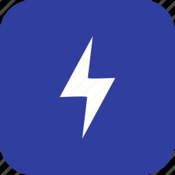 bolt, energy, lightning, lightning button icon