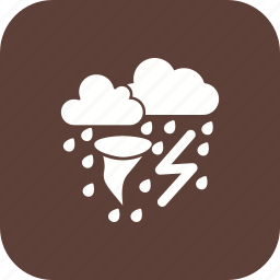 bad weather, rain, storm, tornado icon