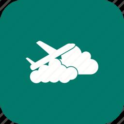 airplane, cloud, plane, travel icon