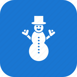 cold, greeting, play, snow, snow man, winter icon