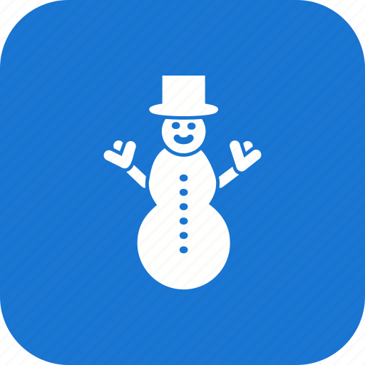 snow man, snowman, winter icon