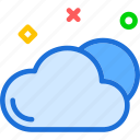 cloud, dry, hot, sky, weather icon