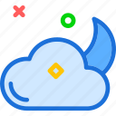 cloud, cloudy, night icon