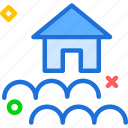 flood, flow, house, river icon