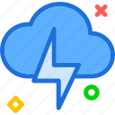 bolt, cloud, light, rainy, strike icon