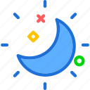 moon, shiny, sky, weather icon