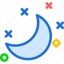 halfmoon, moon, night icon