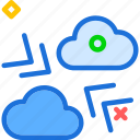 clouds, cloudy, friction, pressure, weather icon