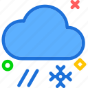 cloud, hail, rain, snowflake, weather, winter icon