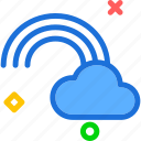 cloud, rainbow, sky icon