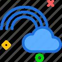 cloud, rainbow, sky icon