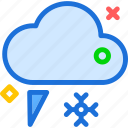 cloud, cold, rainy, snowing, weather icon